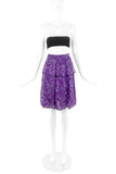 Yves Saint Laurent Purple Floral Chiffon Skirt