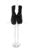 Sonia Rykiel Black Marabou Plume Vest - BOUTIQUE PURCHASE PRICE
