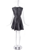 Giambattista Valli Grey Leopard Print Fit and Flare Dress