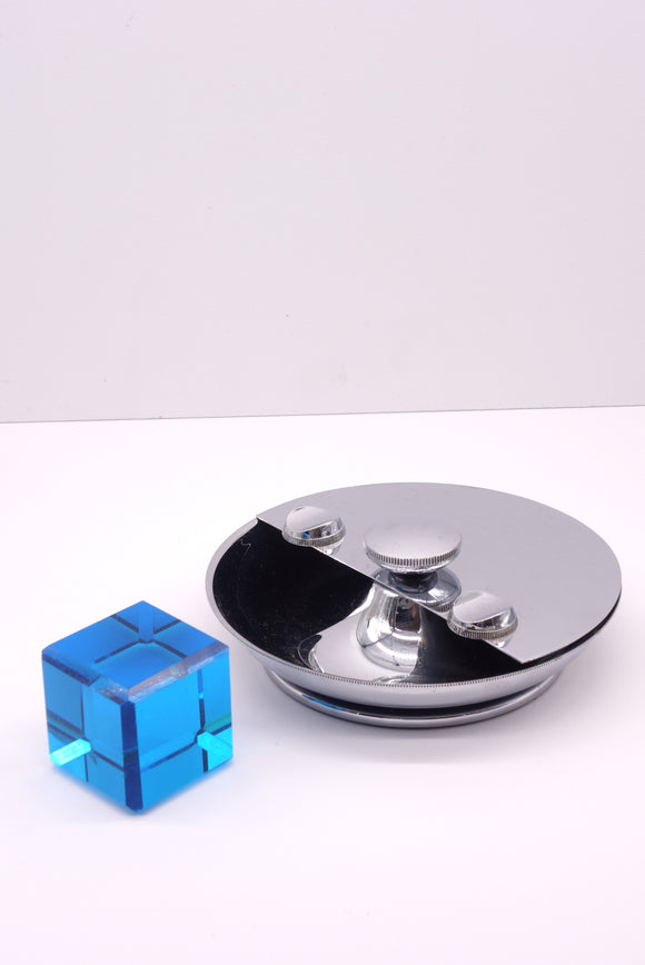 Chrome Vintage Self Cleaning Rotating Ashtray