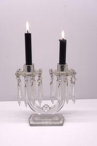 Vintage Candelabra with hanging glass drops