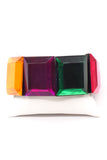 Vintage Lucite Square Multi Color Geometric Mod Bracelet
