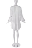 Francesco Scognamiglio White Volant Ruffle Dress - BOUTIQUE PURCHASE PRICE