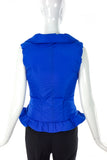 Yves Saint Laurent Limited Edition 24 Cerulean Cinched Puffer Vest