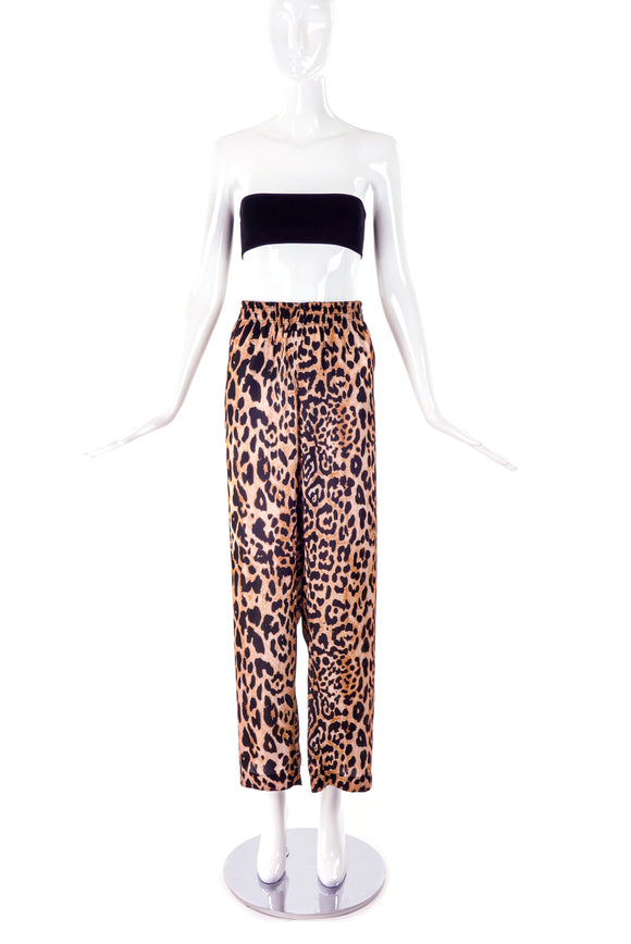 Paco Rabanne Leopard Print Silk Lounge Pants - BOUTIQUE PURCHASE PRICE