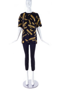 "Moschino Couture ""Fauxschino"" Oversized T-Shirt - BOUTIQUE PURCHASE PRICE"