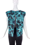 Marques Almeida Metallic Floral Brocade Top