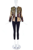 Sequin Ombre Patchwork Tiger Cheetah Leopard Rock Star Jacket