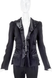 Lanvin Crinkle Chiffon with Satin Lapel Blazer SS2009 - BOUTIQUE PURCHASE PRICE