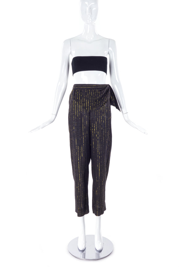 Saint Laurent 1970'/ 80's Studio 54 Lurex Stripe Pants