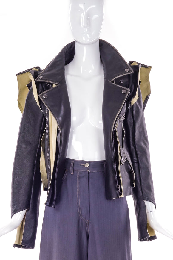 Maison Margiela for H&M Deconstructed Leather Jacket - BOUTIQUE PURCHASE PRICE