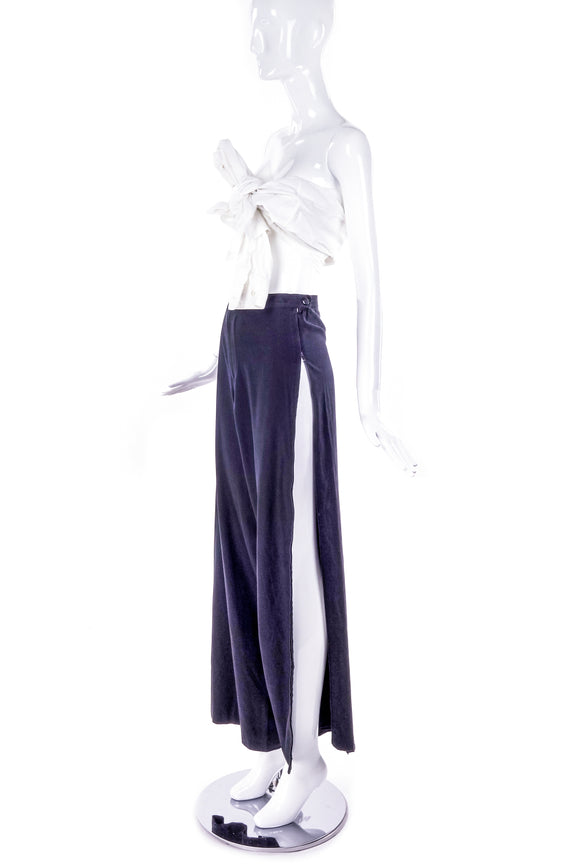 Maison Martin Margiela Trouser with Side Zipper Detail