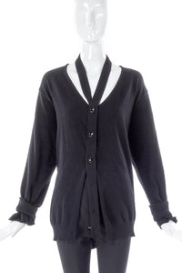 Maison Martin Margiela Black Deconstructed Cardigan