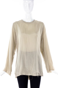 Comme des Garçons Tulle and Silk Longe Sleeves Blouse