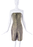 """Undercover"" Gold Jumpsuit with a Geometric Print - BOUTIQUE PURCHASE PRICE"