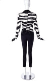 Ann Demeulemeester Black and White loose knit cardigan