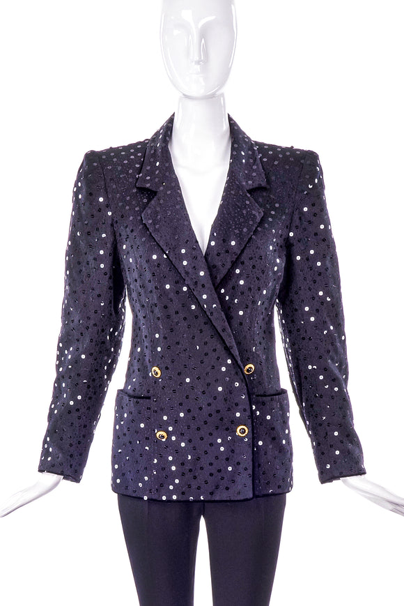 Emanuel Ungaro Black Sequin Jacket