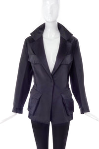 Donna Karan Structured Satin Blazer