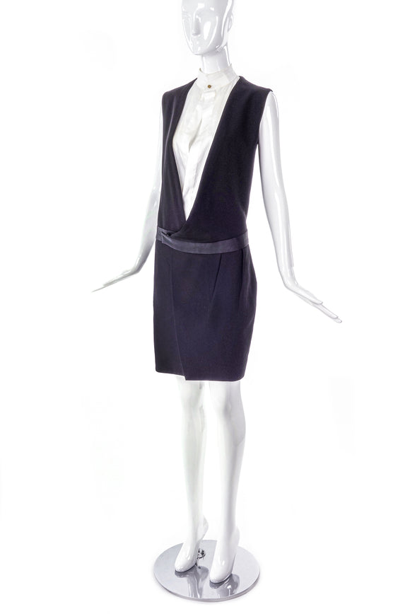 Céline by Phoebe Philo Black and White Tuxedo Dress - BOUTIQUE PURCHASE PRICE