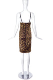 Dolce & Gabbana Dark Leopard and Lace Slip Dress