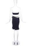 Ann Demeulemeester Satin Crepe Asymmetrical Skirt with Waist Tie - BOUTIQUE PURCHASE PRICE