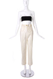 Chanel Ivory Nautical Cargo Trouser