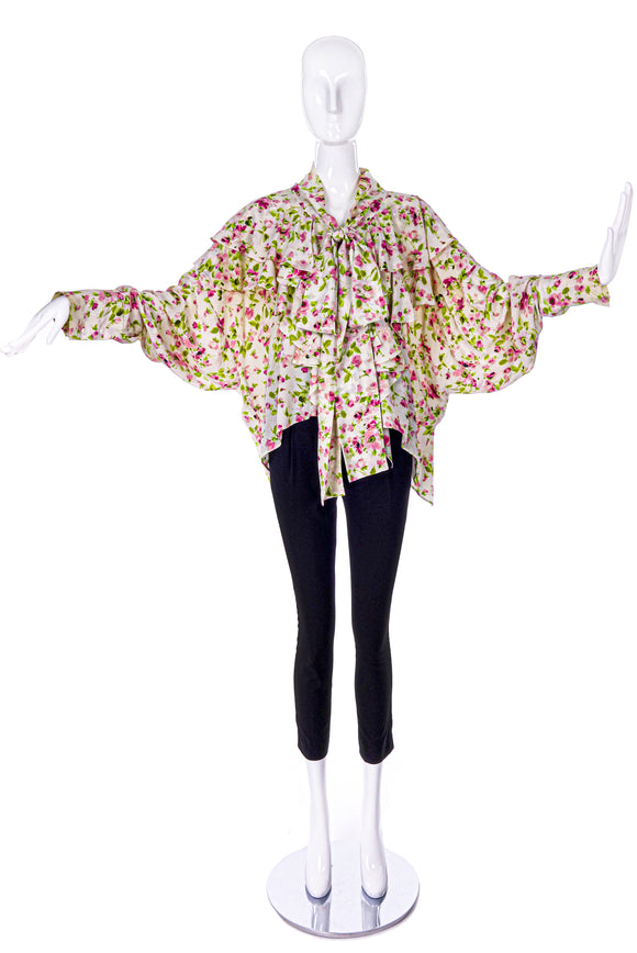 Faith Connection Floral Blazer and Ruffle Blouse