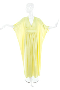 Vintage Pale Lemon Yellow Caftan Dress