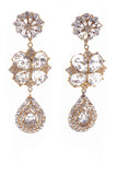Yves Saint Laurent Diamond Clover Chandelier Gold Earrings