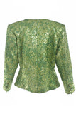 Yves Saint Laurent Green Metallic Blazer