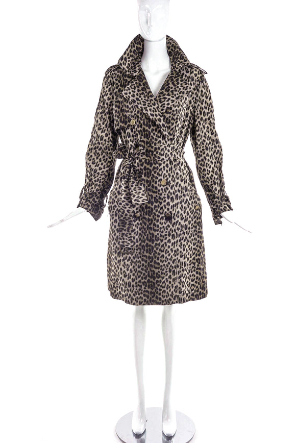 Lanvin Leopard Print Trench Coat - BOUTIQUE PURCHASE PRICE