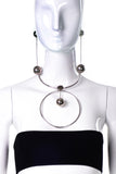 Eddie Borgo 1960's Inspired Circle Globe Necklace and Double Globe Earrings