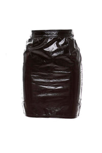 Emanuel Ungaro Black Patent Mini Skirt