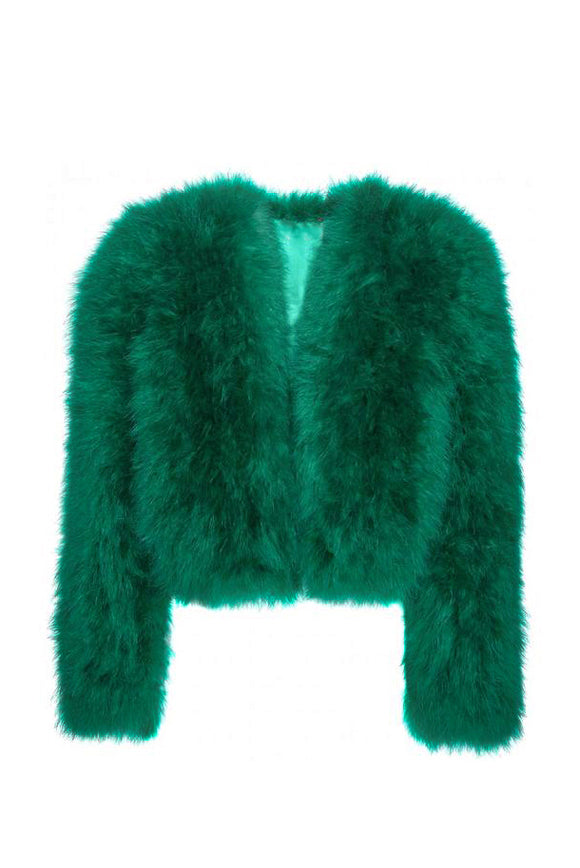 Vintage Emerald Marabou Feather