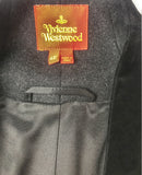 Vivienne Westwood Gray Wool Equestrian Coat with Black Velvet Inlay - BOUTIQUE PURCHASE PRICE