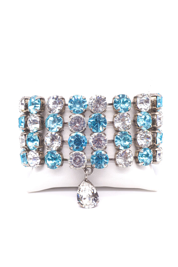 Fausto Puglisi Aquamarine and Crystal Diamond Bracelet