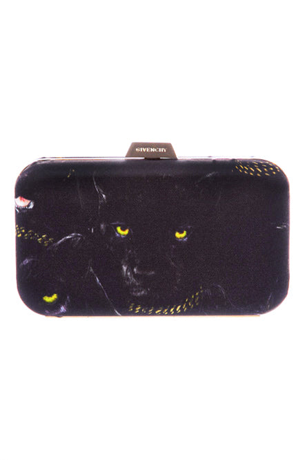 Givenchy Black Panther Minaudière Clutch with Gold Hardware FW2011 - BOUTIQUE PURCHASE PRICE