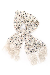 Givenchy Floral Print Jacquard Logo Scarf