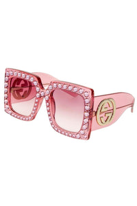 "Gucci Pink ""Hollywood Forever"" Diamond Sunglasses"