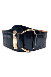 "Gucci by Tom Ford Oversized Military Corset Belt with ""Horse Bit"" Gold Hardware"