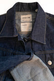 Helmut Lang Blue Denim Jacket with Oversized Flipped Cuffs