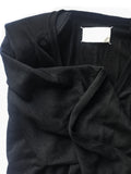 Maison Martin Margiela Pointed Shoulder Black V Neck Sweater Dress
