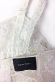 Simone Rocha Clear PVC Corset with White Rose Embroidery