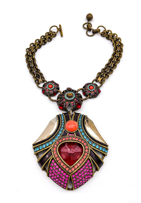 Lanvin Maharaja Crown Jewel Pendent Necklace