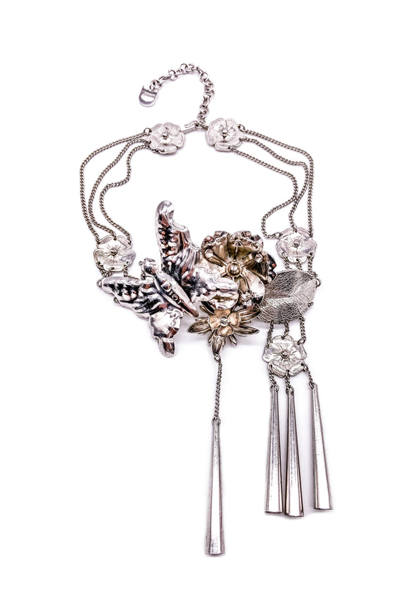 Christian Dior by John Galliano Butterfly Flower Choker from Fall Winter 2003