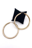 Vintage Oversized Round Gold Hoop Earrings
