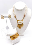 "Valentino Gold and Pearl ""Coral"" Costume Jewelry Set - BOUTIQUE PURCHASE PRICE"