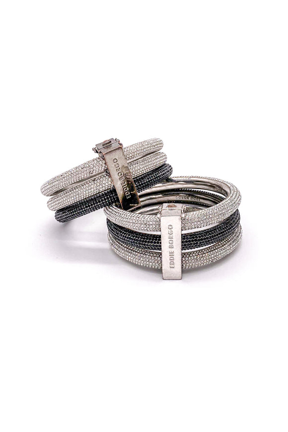 Eddie Borgo Interchangeable Pavé Crystal Stacked Bracelets