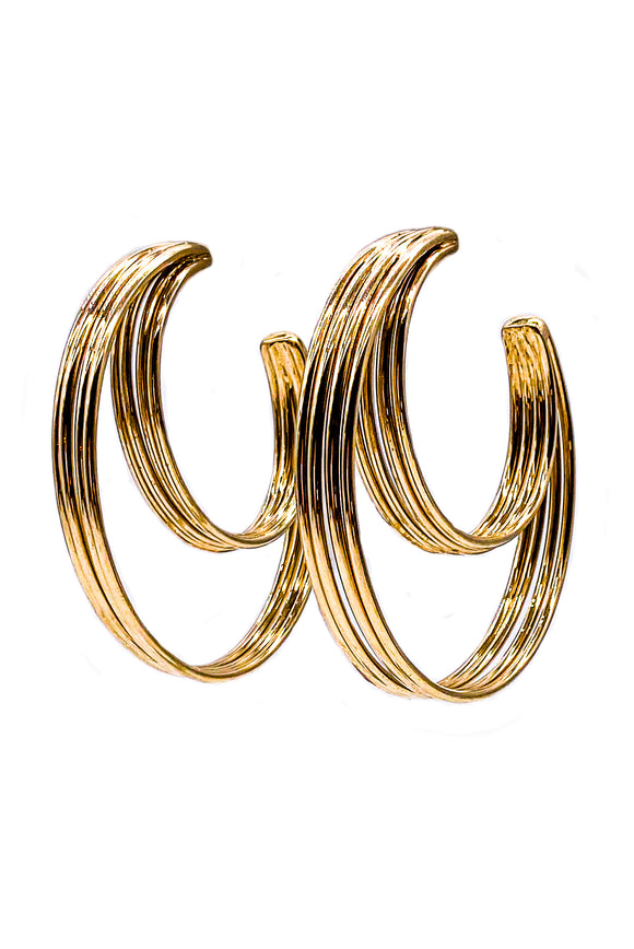 Vionnet Tribal Triple Hoop Earring
