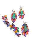 "Attributed Yves Saint Laurent ""Parrot"" Earrings and Matching Broach"